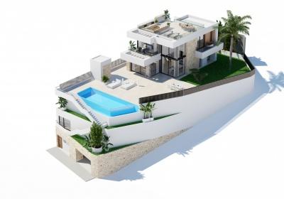 5 Chambres, Villa, À Vendre, 4 Salles de bain, Listing ID 2140, fINESTRAT, Espagne,